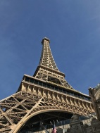 The replica of the Eiffel Tower at the hotel Paris Paris